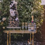Luxury black wedding cake AVE Creations